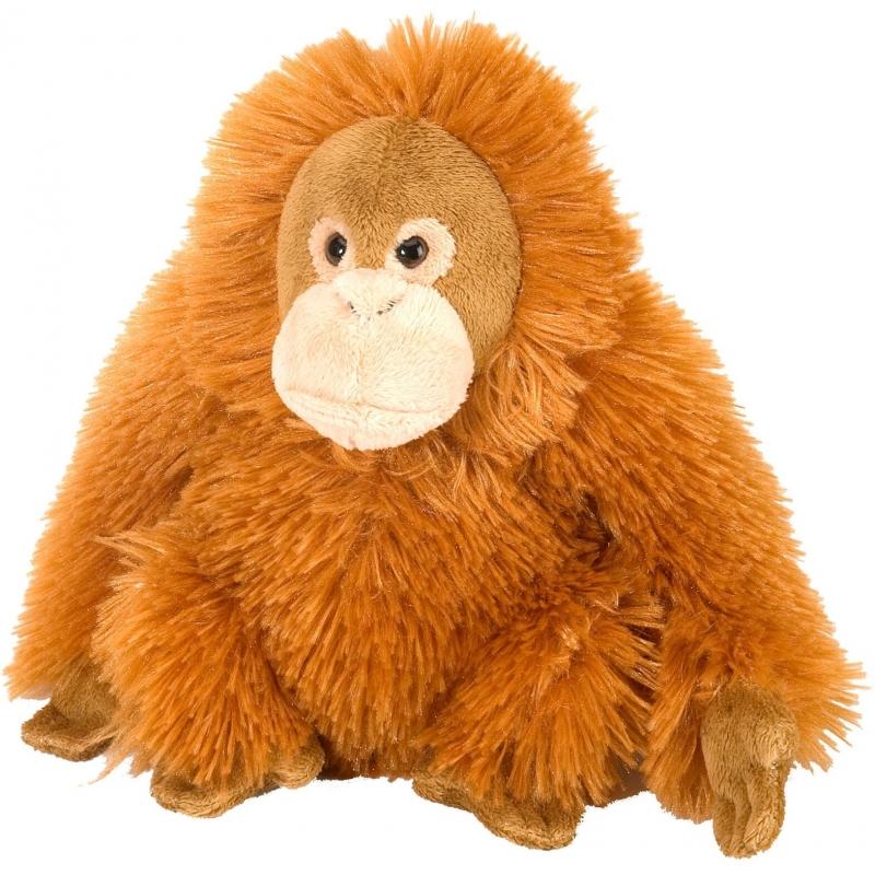 Oranje Orang Oetan knuffel pluche vrouwtje 20 cm