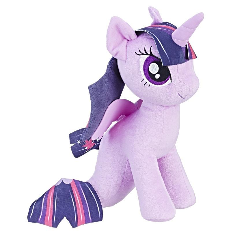 Paars My Little Pony zeepaardje knuffel Twilight Sparkle 32 cm