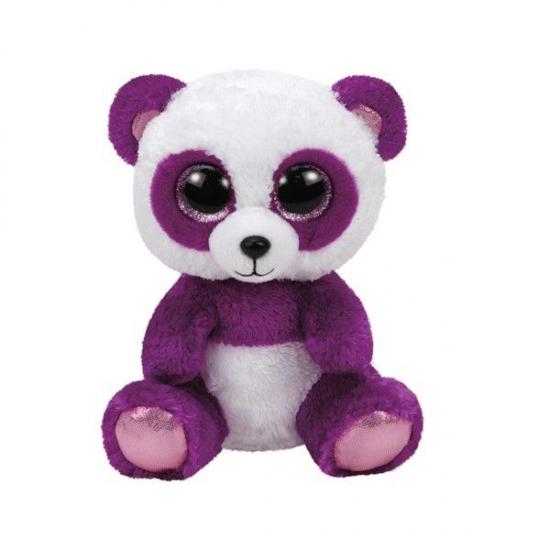 Paarse pluche panda beer knuffel 15 cm