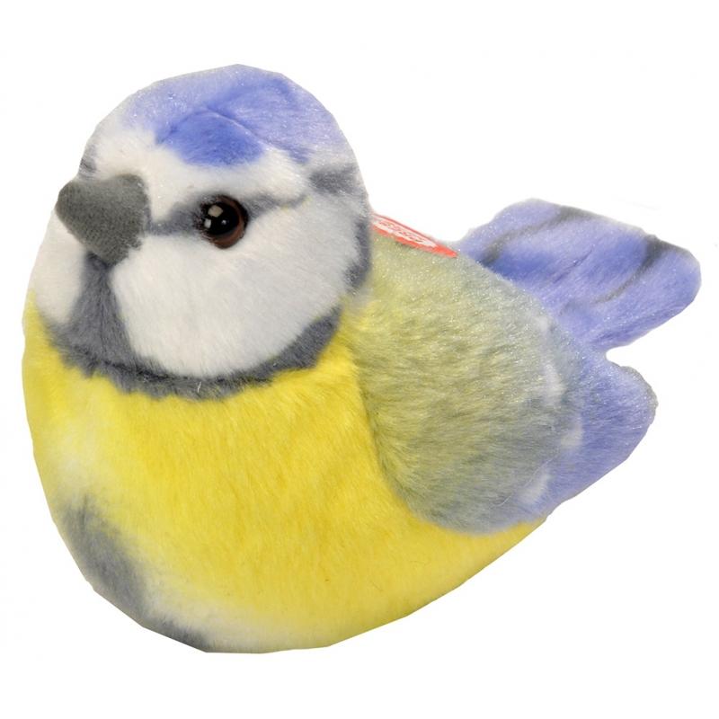 Pimpelmezen knuffel vogels 14 cm