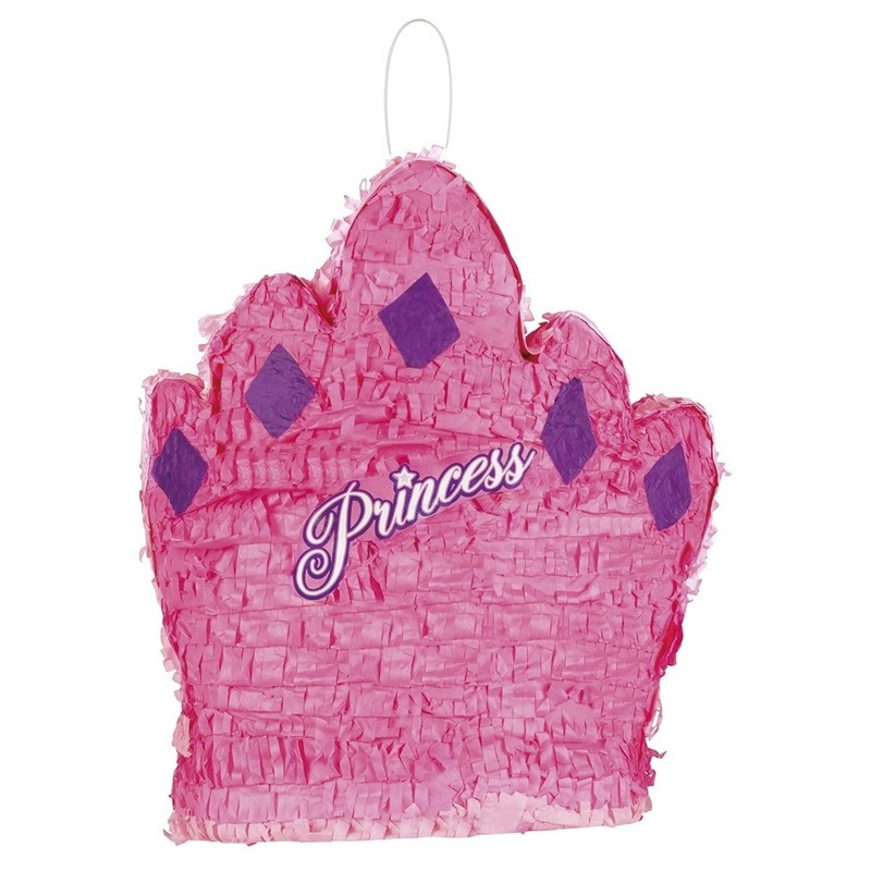 Feestartikelen diversen Geen Pinata roze prinsessenkroon 41 cm