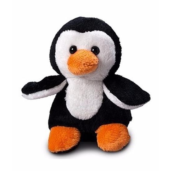 Pinguin knuffel cadeau 12 cm met ruimte voor wens