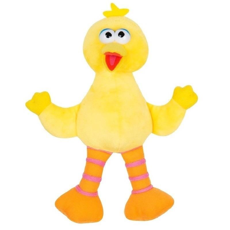 Pino/Big Bird Sesamstraat pluche knuffel 25 cm speelgoed