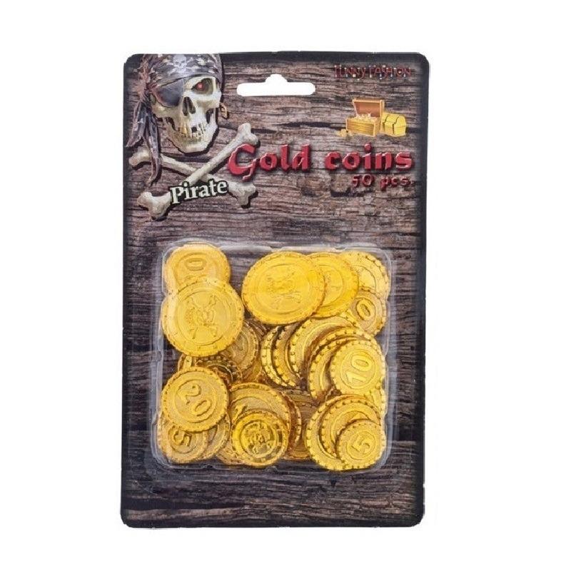 Speelgoed diversen Geen Piraat munten goud 65 stuks