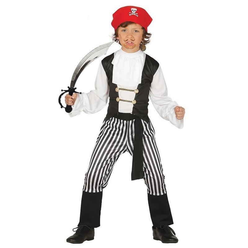 Geschiedenis kostuums Geen Piraten kostuum maat 128 134 met zwaard voor kinderen