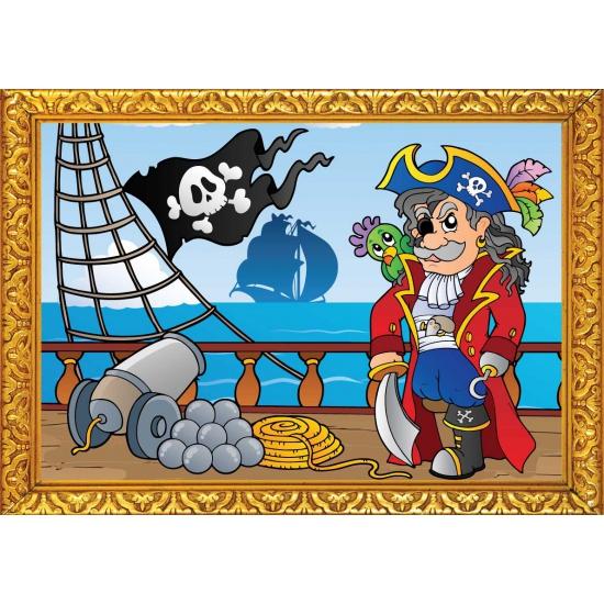 Thema feestartikelen Shoppartners Piraten poster boot