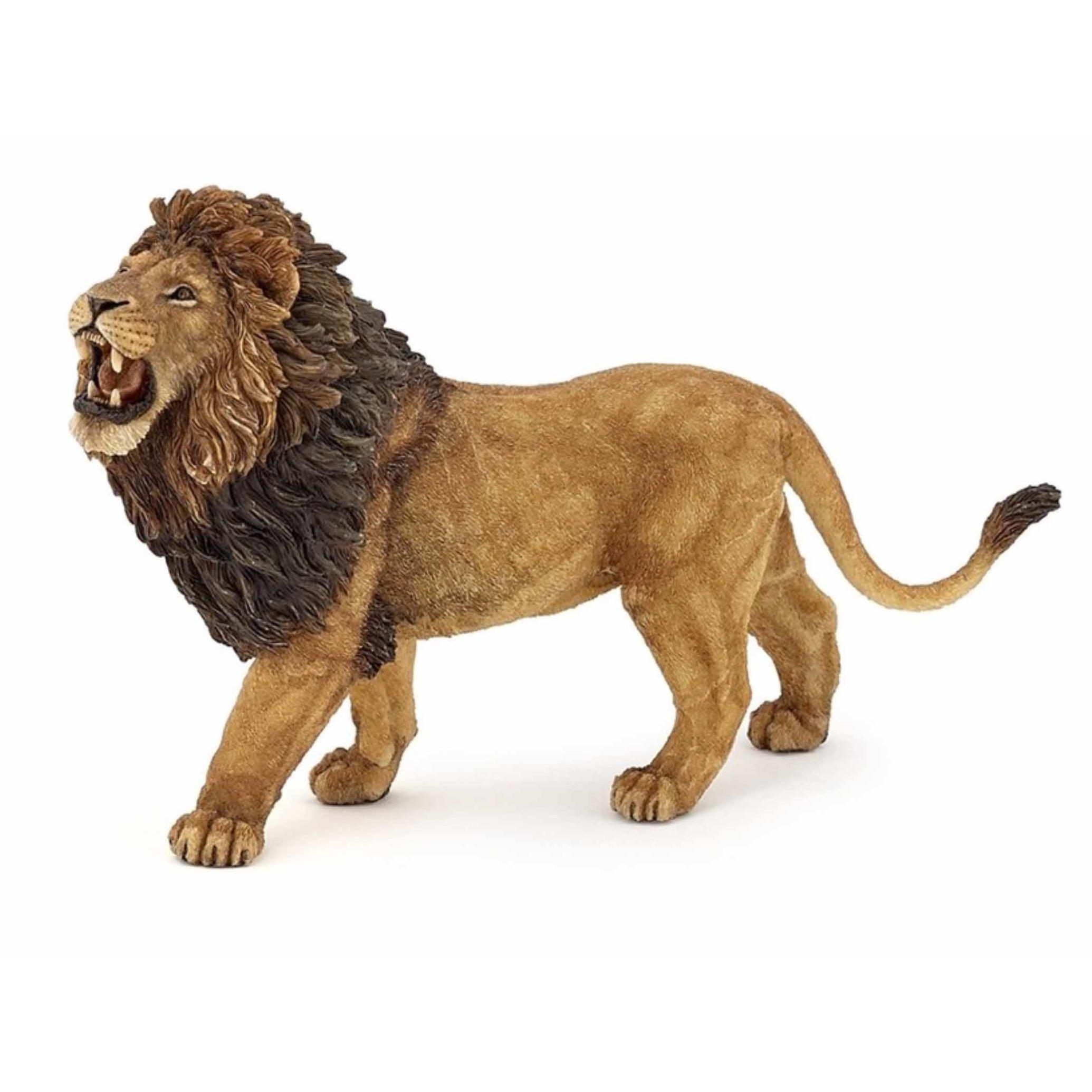 Plastic brullende leeuw 15 cm Papo Speelfiguren sets
