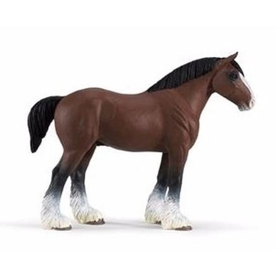 Speelfiguren sets Safari LTD Plastic Clydesdale paard hengst 13 cm