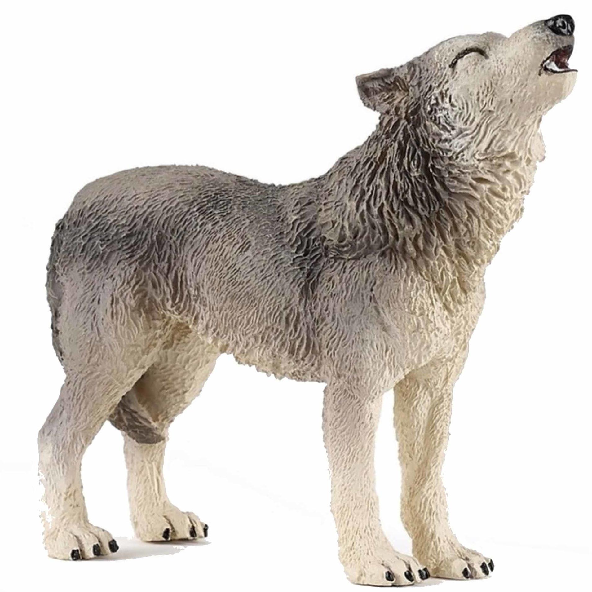 Speelfiguren sets Papo Plastic huilende wolf 9 cm