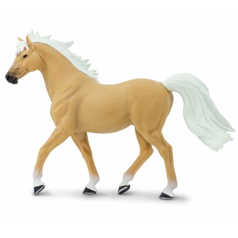 Speelfiguren sets Plastic Palomino Mustang paard hengst 14 cm