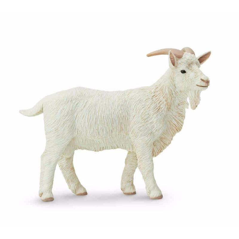 Safari LTD Plastic witte geit bok 9 cm Speelfiguren sets