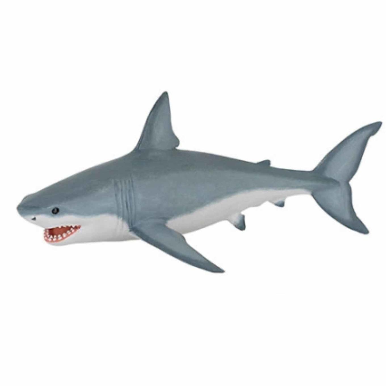 Plastic witte haai 19 cm Papo Speelfiguren sets