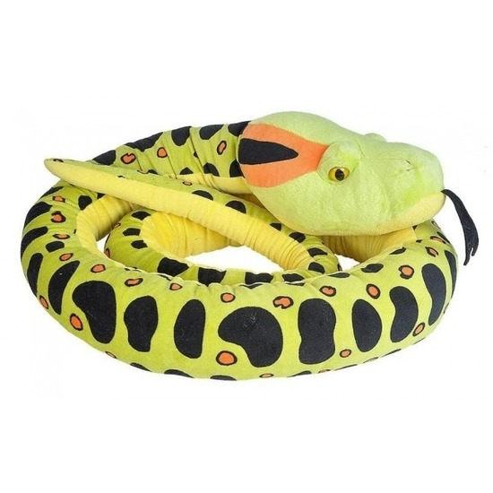 Pluche anaconda slang knuffel 280 cm