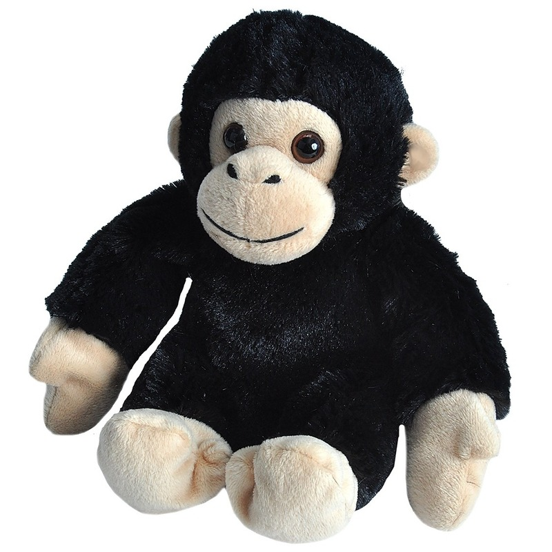 Pluche baby chimpansee aap knuffel 18 cm