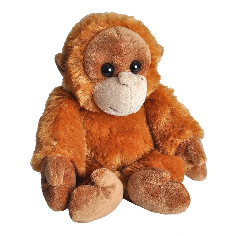 Pluche baby orang oetan aap knuffel 18 cm