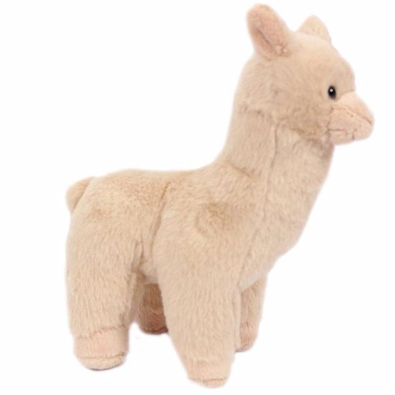 Pluche beige alpaca/lama knuffel 17 cm
