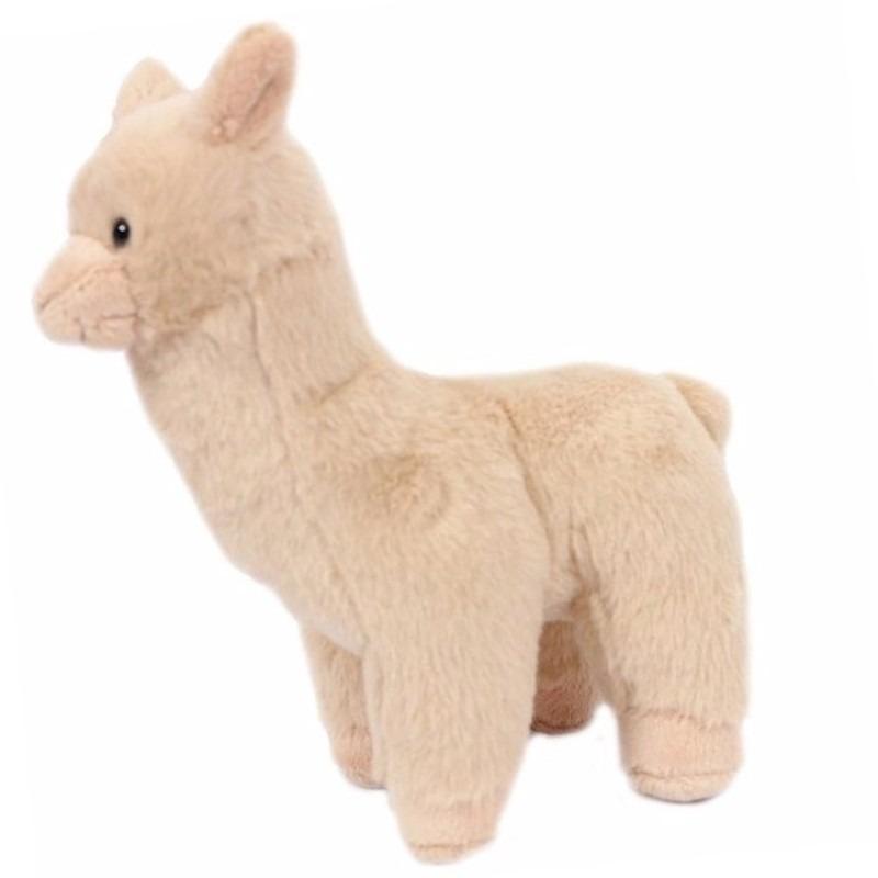 Pluche beige alpaca/lama knuffelbeestje van 17 cm