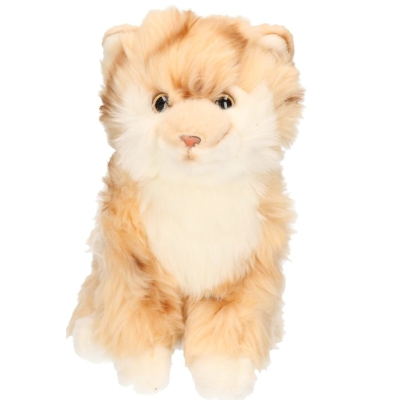Pluche beige Tabby poes 27 cm