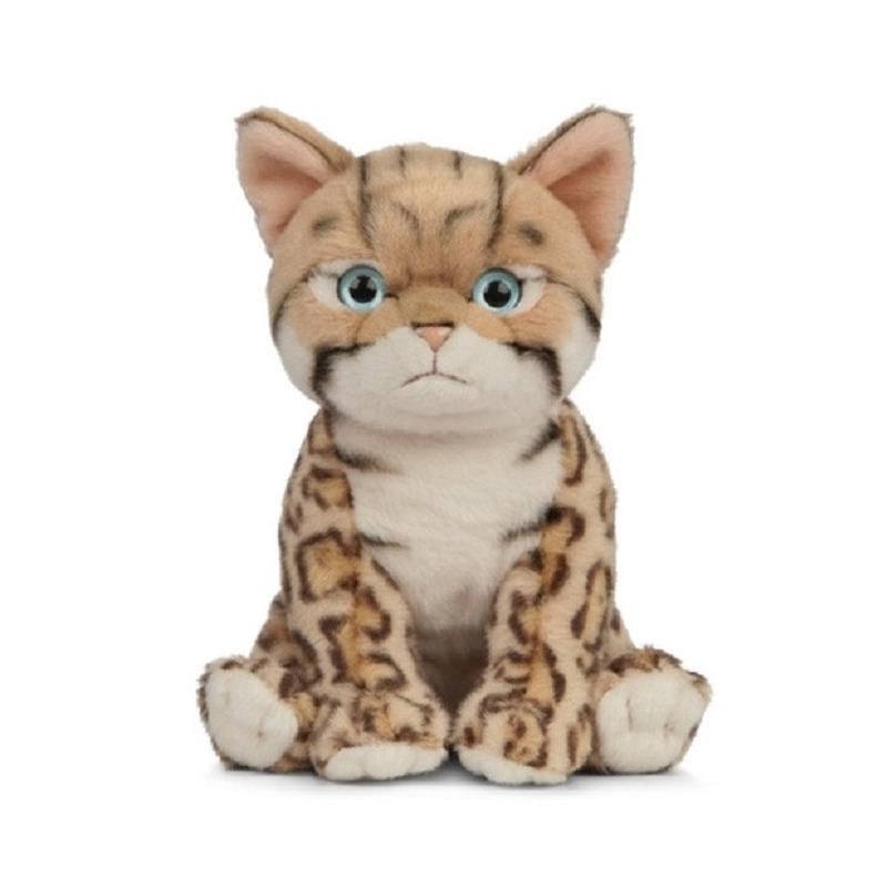 Pluche Bengaalse kat/poes knuffel 16 cm speelgoed