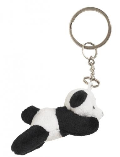Pluche beren sleutelhanger panda 6 cm