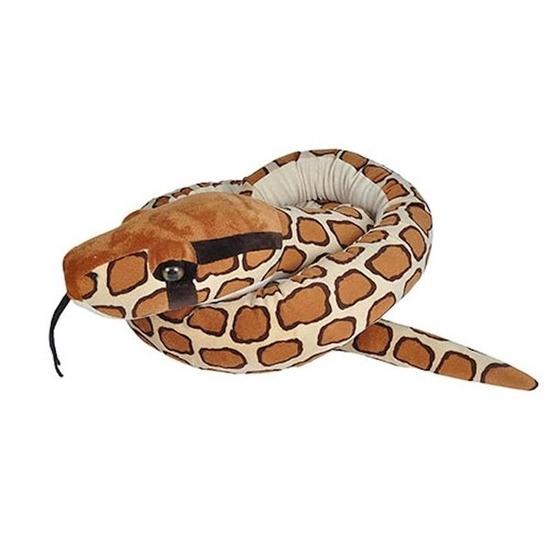 Pluche Birmese python slang knuffel 280 cm