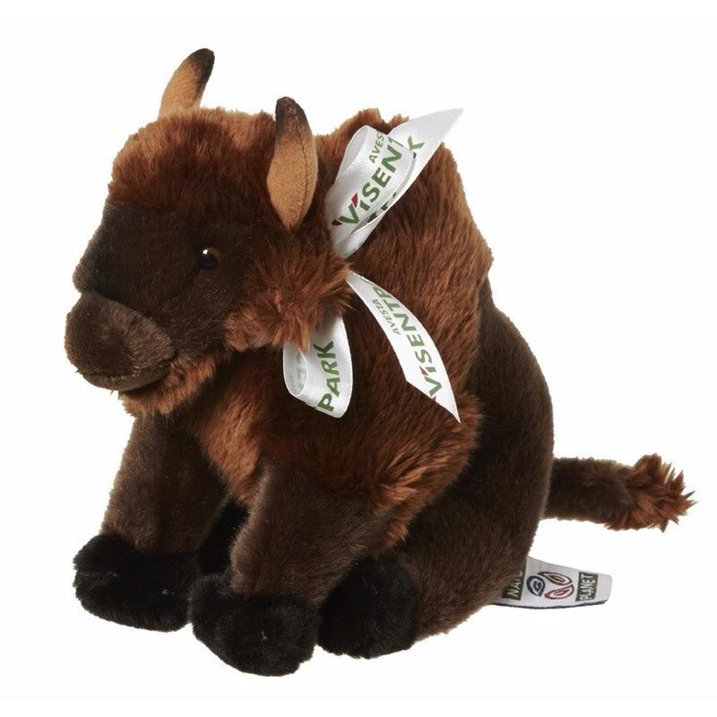 Pluche bizon knuffeldieren 18 cm