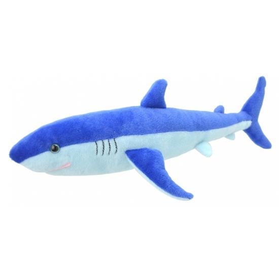 Pluche blauwe haai knuffel 40 cm