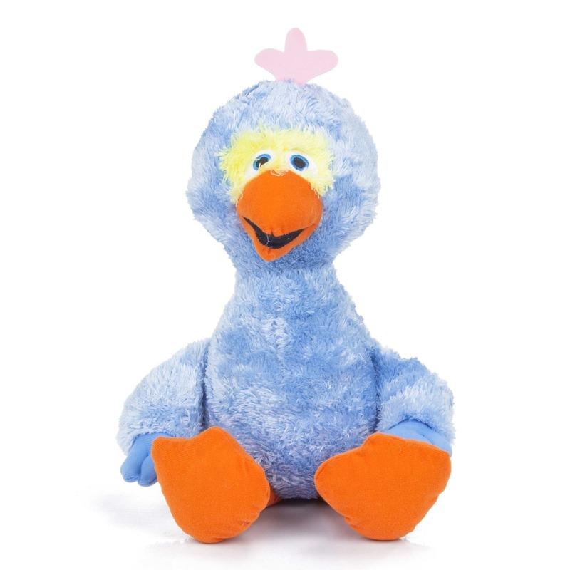 Pluche blauwe Pino Sesamstraat knuffel 38 cm
