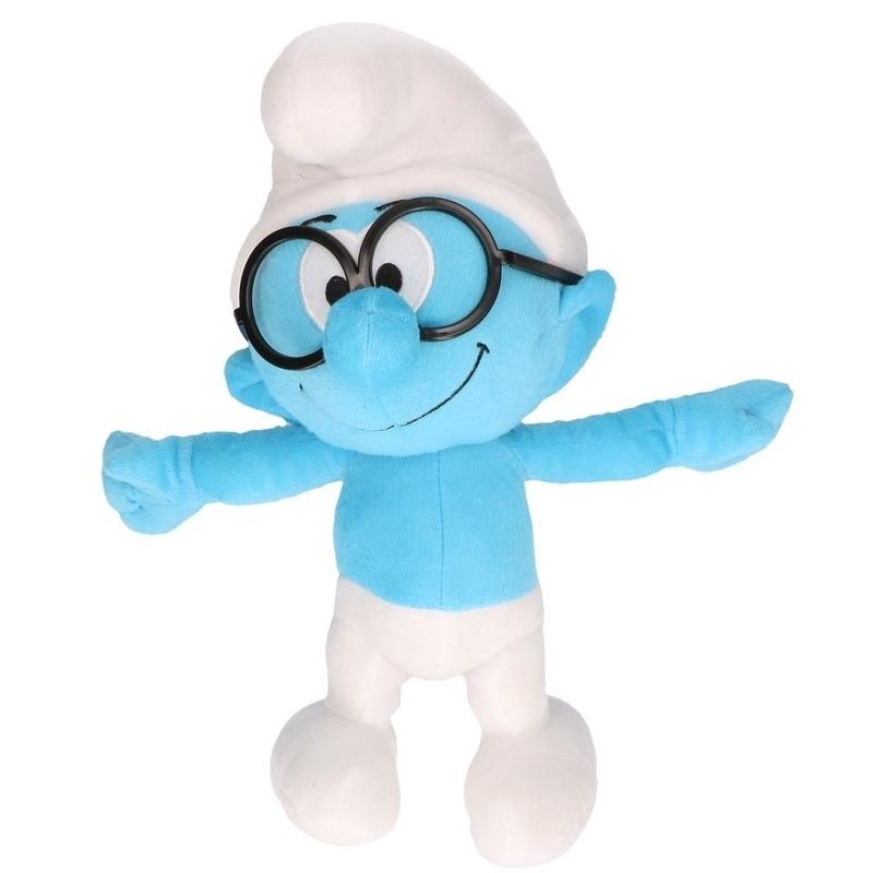 Pluche Brilsmurf Smurfen knuffel pop 38 cm speelgoed