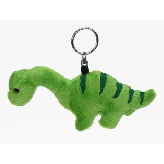 Pluche Brontosaurus dinosaurus sleutelhanger 16 cm