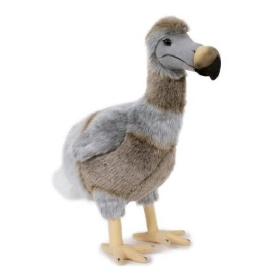 Pluche bruin/grijze dodo vogel knuffel 38 cm speelgoed