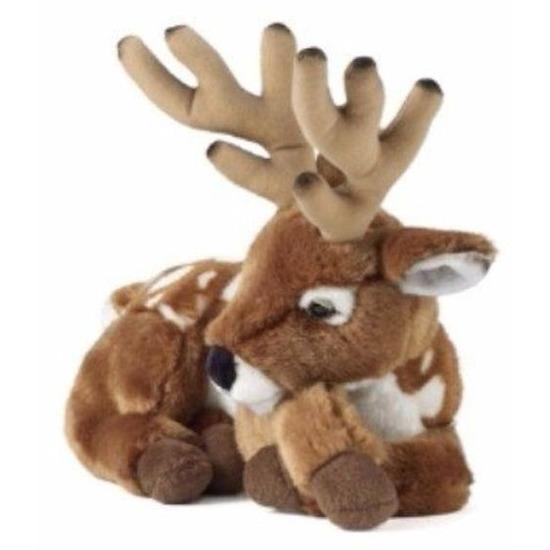 Pluche bruin hert met gewei knuffel 29 cm speelgoed