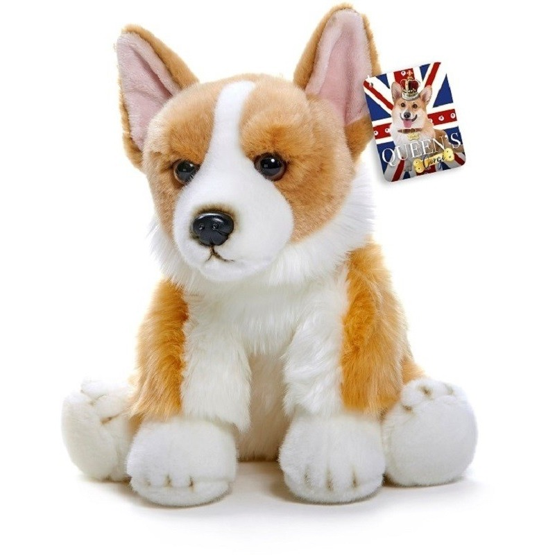 Pluche bruin/witte Corgi hond/honden knuffel 30 cm speelgoed