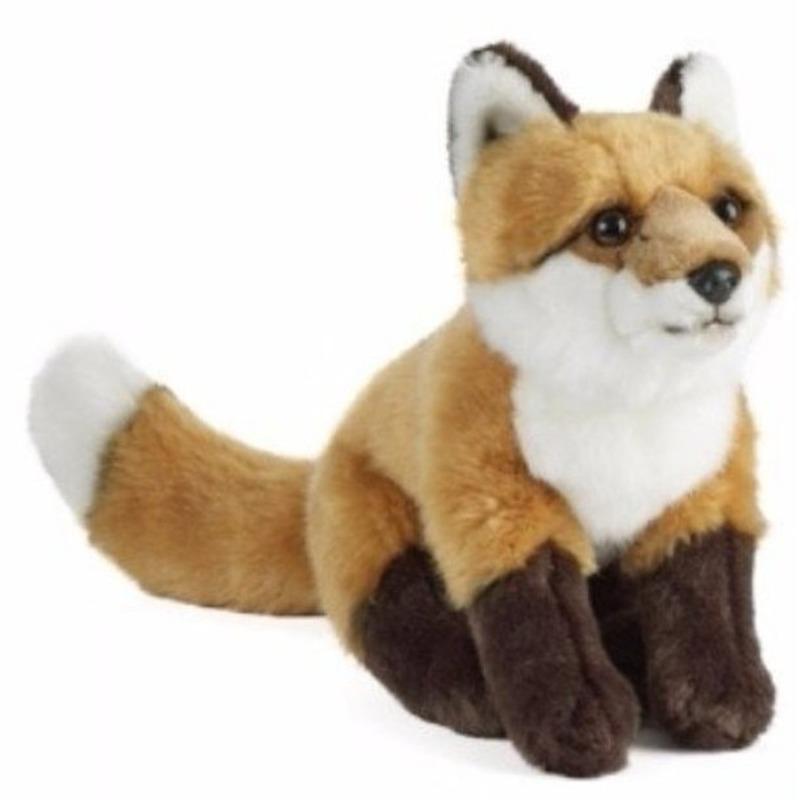 Pluche bruin/witte vos/vossen knuffel 39 cm speelgoed