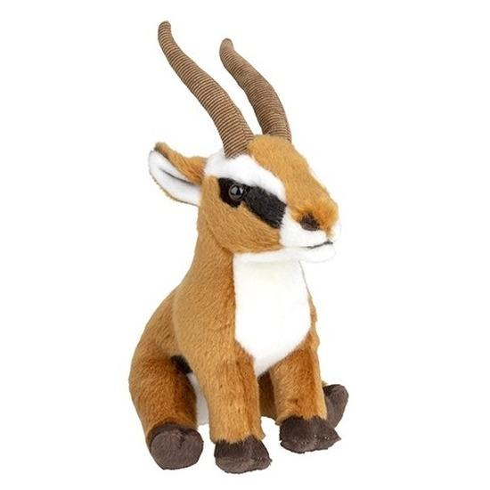 Pluche bruine antilope knuffel 18 cm speelgoed