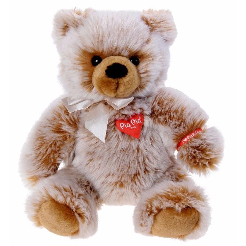 Pluche bruine beer knuffel zittend 35 cm