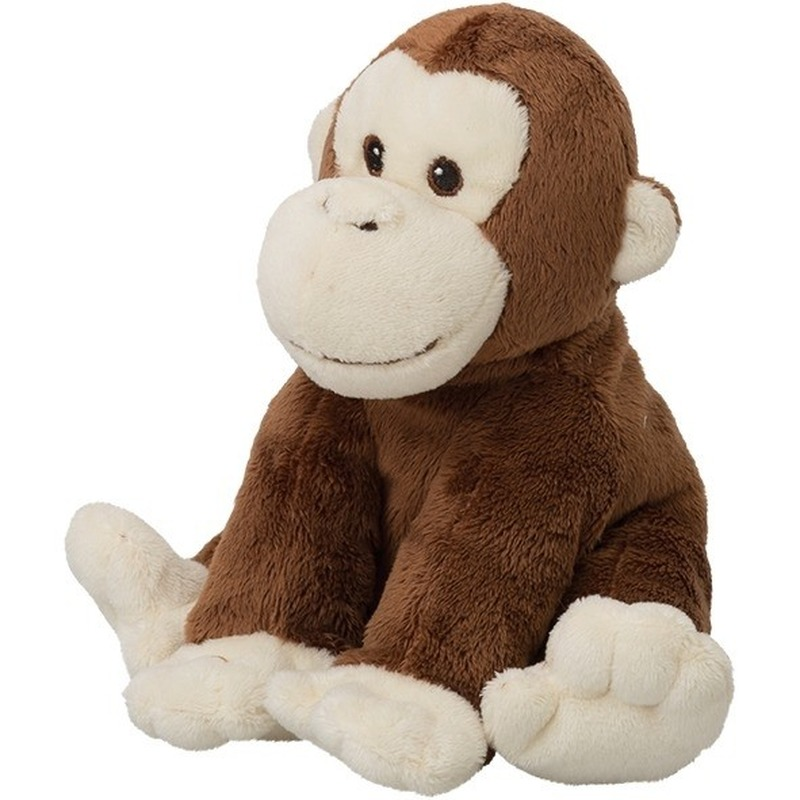 Pluche bruine chimpansee aap/apen knuffel 18 cm speelgoed