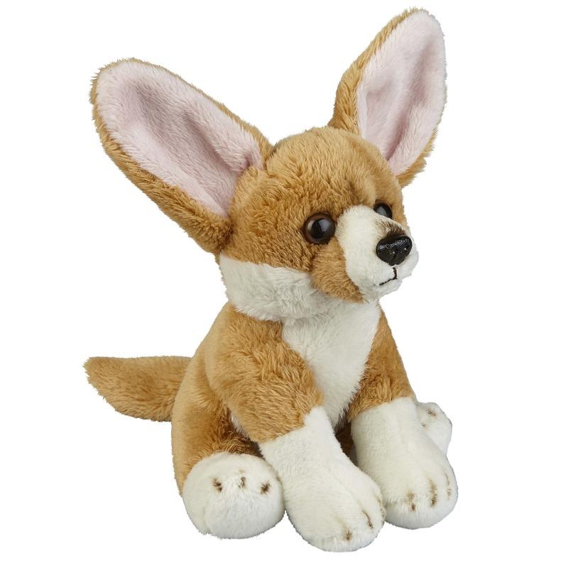 Pluche bruine fennek/vossen knuffel 15 cm speelgoed