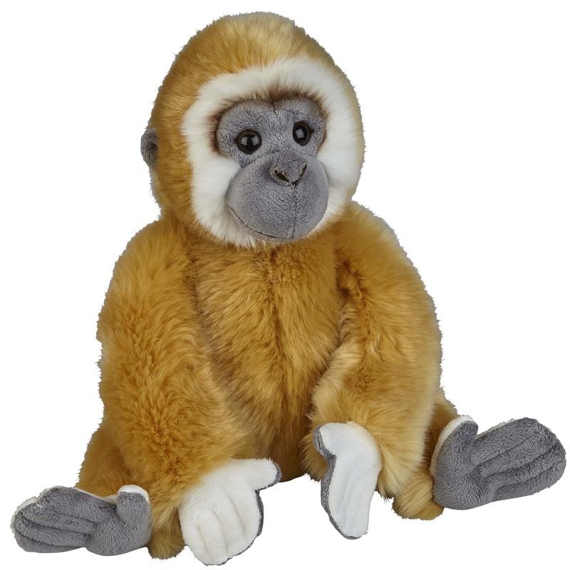 Pluche bruine gibbon aap/apen knuffel 28 cm speelgoed
