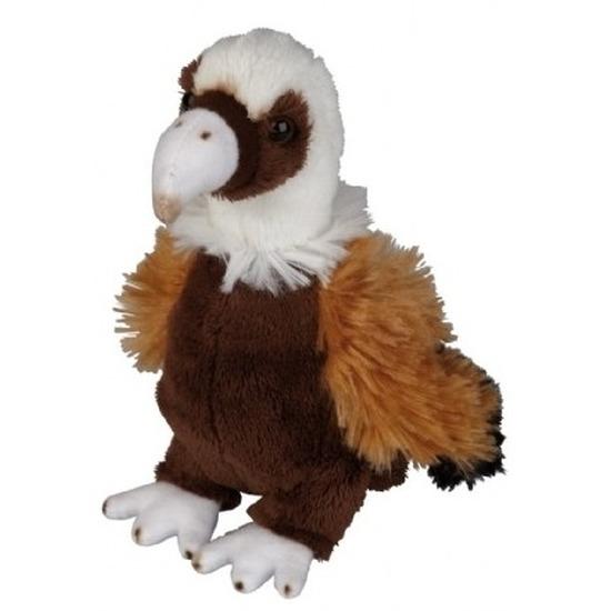 Pluche bruine gier vogel knuffel 15 cm speelgoed