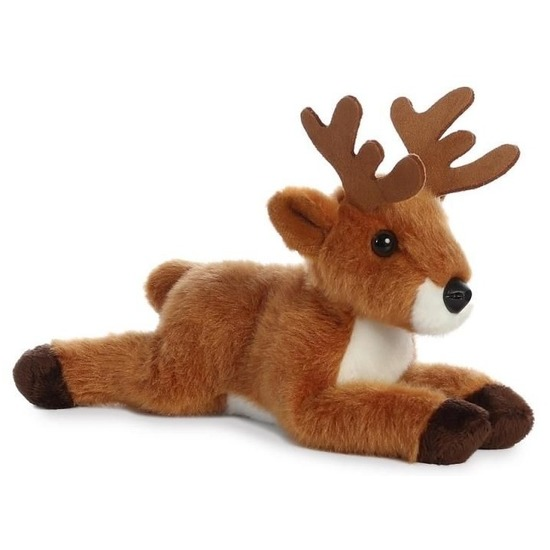 Pluche bruine herten knuffel 20 cm speelgoed