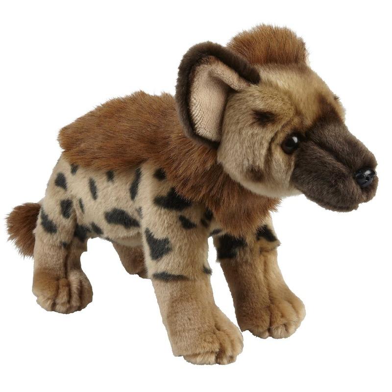 Pluche bruine hyena knuffel 28 cm speelgoed