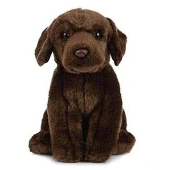 Pluche bruine Labrador hond/honden knuffel 25 cm speelgoed