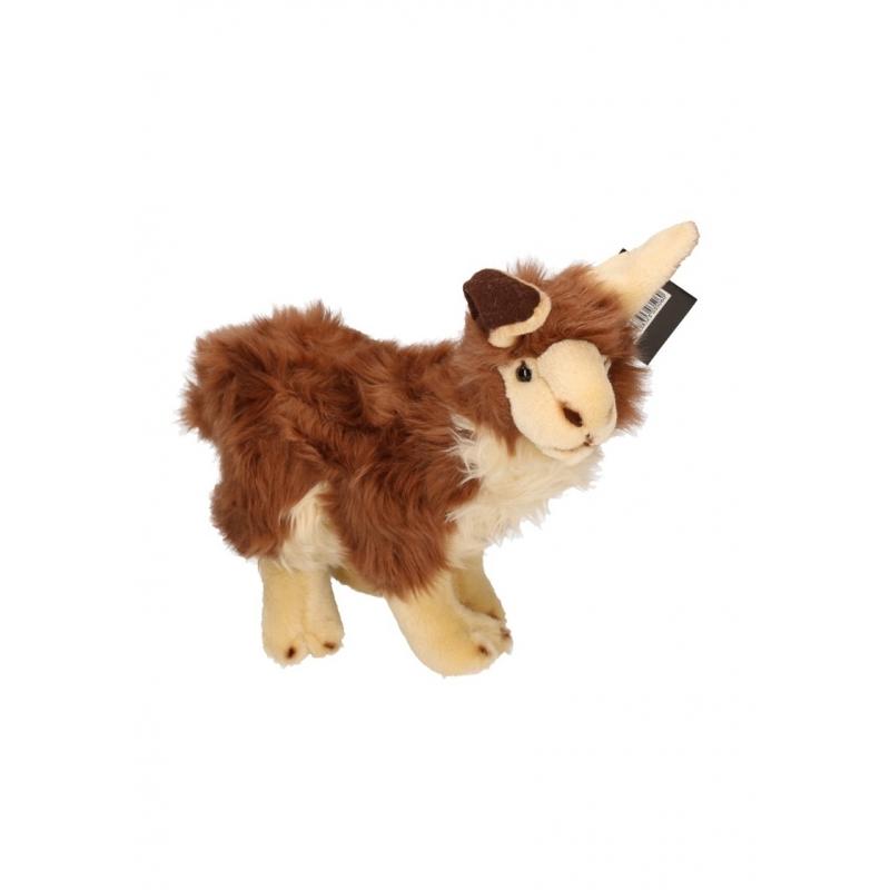 Pluche bruine lama knuffels 35 cm