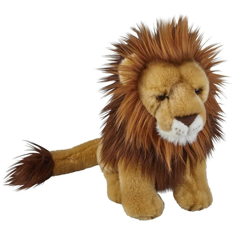 Pluche bruine leeuw knuffel 28 cm speelgoed