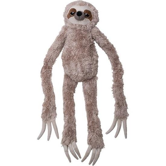 Pluche bruine luiaard knuffel 100 cm speelgoed
