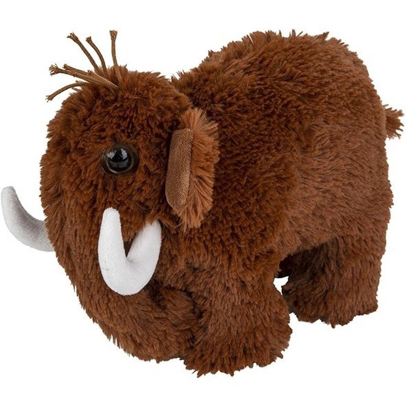 Pluche bruine mammoet knuffel 26 cm speelgoed