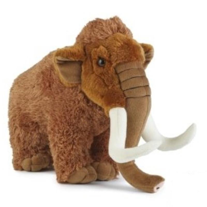 Pluche bruine mammoet knuffel 30 cm speelgoed