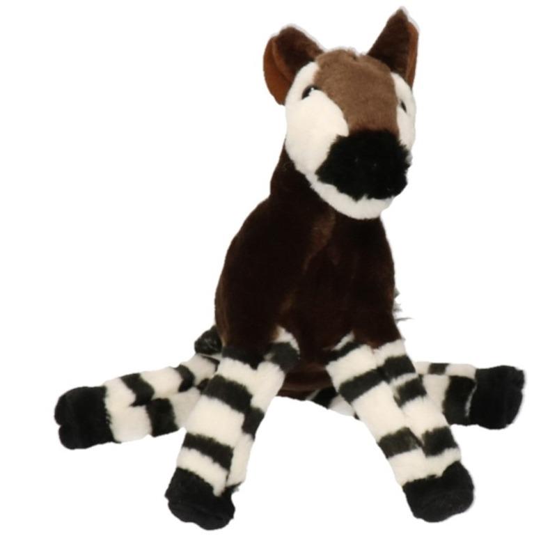 Pluche bruine okapi knuffel 18 cm speelgoed