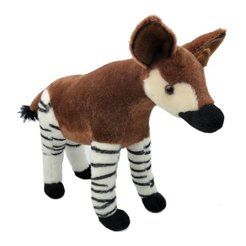 Pluche bruine okapi knuffel staand 34 cm speelgoed